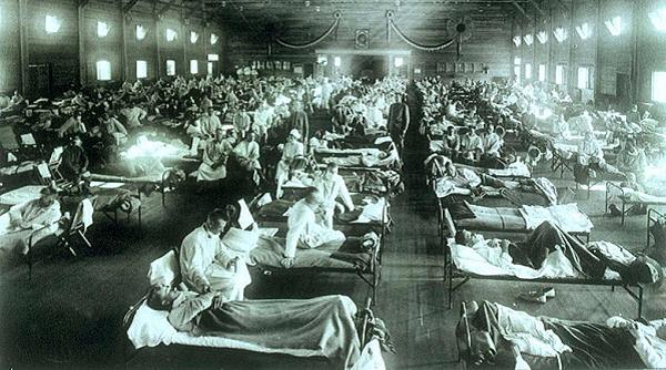 Spaanse Griep militair hospitaal in Kamp Funston